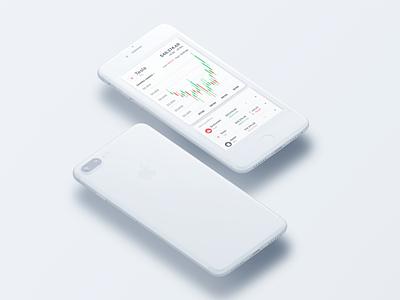 Trading app minimal app ux design ui