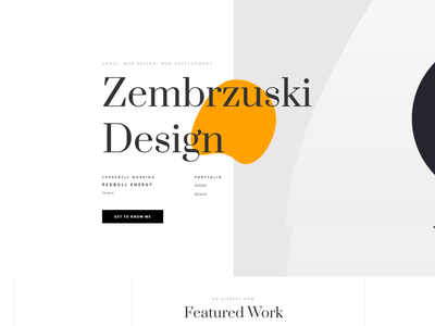 Personal website typography illustration webdesign ui