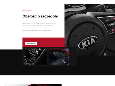 KIA MOTORS - Polish website redesign ux design ui
