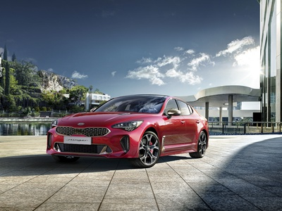 Kia stinger photo manipulation webdesign branding ui design