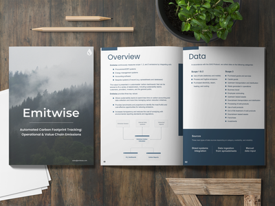 Emitwise - Document vector illustration branding ui design