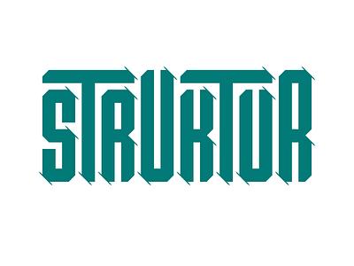 Struktur ⎜ Typography graphism graphic deisgn design paper logo illustration typogaphy typo logo typo
