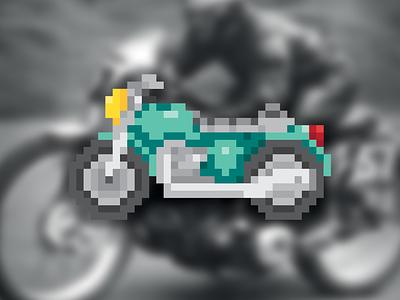 Motorbike Pixel ⎜ Pixel Art photoshop illustrator motorbike bike motor curse race automobile vehicule graphic  design visual art dessin drawing photo moto pixel art pixel vector illustration design