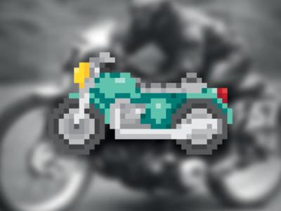 Motorbike Pixel ⎜ Pixel Art