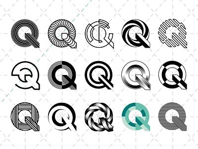 Q Lettering ⎜ Typography illustrator vector basis variation construction black  white poster green q font title typography typo lettering letter illustration graphicdesigner graphicdesign designer design