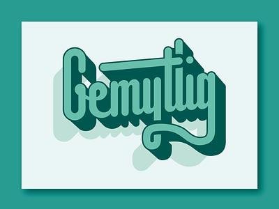 Gemytlig ⎜ Typography gemytlig letter type aurélien tardieu videogames grid vector logo font shadow lettering swedish typographie typography title typo illustration illustrator green design
