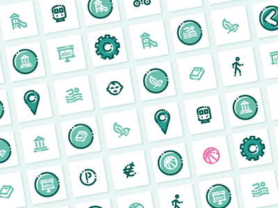 Icons BIM ⎜ Icon Design set illustration vector localisation location map geolocation app aurélien tardieu pictogram picto icon design design icons set icons icon app icon blue green