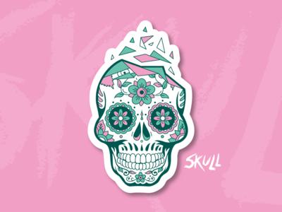 Pink Skull ⎜ Illustration