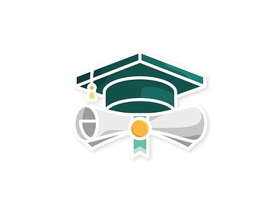 Artistic Director Graduation ⎜ Icon Design logo artistic direction diploma graduation graduate icon design green illustration vector aurélien tardieu