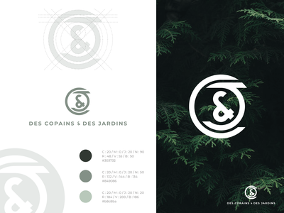 Des Copains & Des Jardins ⎜ Logo brand identity visual identity illustration icon logodesign logotype typography branding logo vector design aurélien tardieu