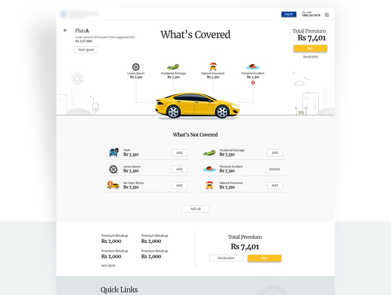 Insurance website landing page [Concept] calculator minial playful contemporary illustrations insurance clean