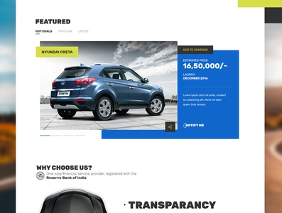 Used Cars Portal [Concept] blockstack white interaction contemporary used cars cars comparison clean bold blocks