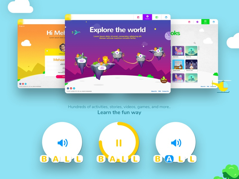 Exploration of an educational tool for kids [Concept] learning language kids gamification fun education e-learning colorful