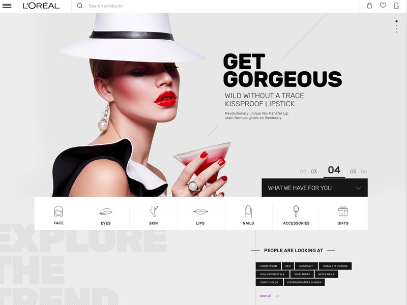 Cosmetics ecommerce [Concept] fashio glamour uidesign ecommerce cosmetics makeup beauty contemporary modern clean classy
