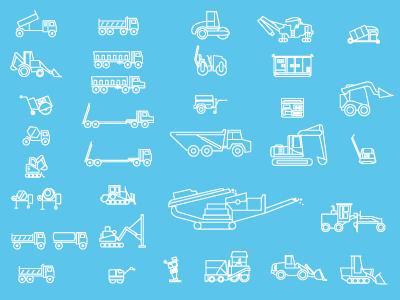 Icon Set - Heavy equipment
