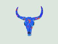 Day of the Dead Skull - Bull