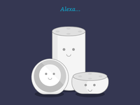 Cute Echo Devices: Illustration