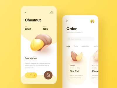 nuts app design ui
