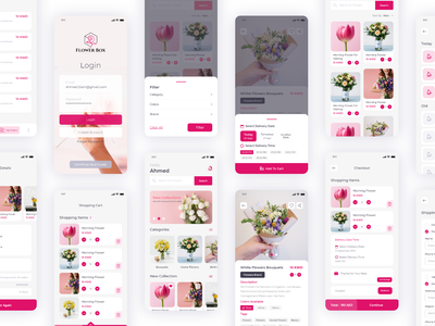 FlowerBox Flowers Online Shop buying payment cart ecommerce app ecommerce shop flower shop flowers flower android app mobile app ios ux ui