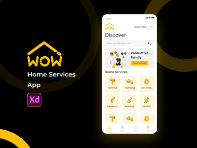 Home Services home services services home design home page android app fixing technician mobile app ios ux ui