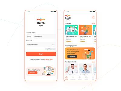 Nurabi Educational App design android app mobile app ios ux ui education website educational learning platform online learning courses elearning lms education app education