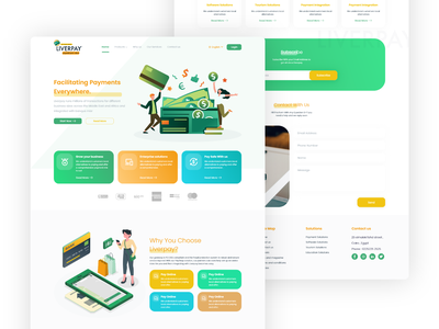 Liverpay Landing Page online payroll services payments payment app landing page mobile app home page web design design ux ui