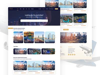 Fiala Tourist website traveling travel agency travelling travel app travel tourist tourism home page web design design ux ui