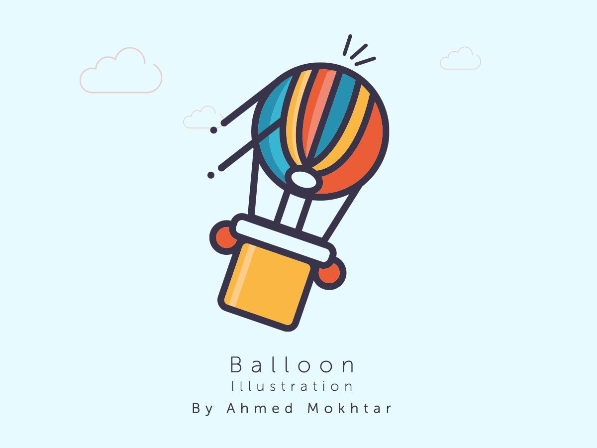 Balloon icon design branding vector illustration graphic design