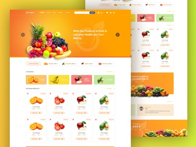 Fruits In Website Home Page home screen orange stock selling buying design landing page graphic design website store online shop shop products food vegetable fruits home page web design ux ui