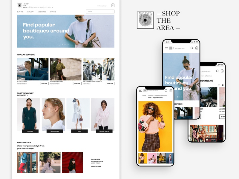 Local Boutique Shopping App shopping app website ecommerce