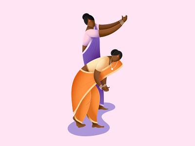 Goan folk dance illustration fugdi goa india goan folk dance