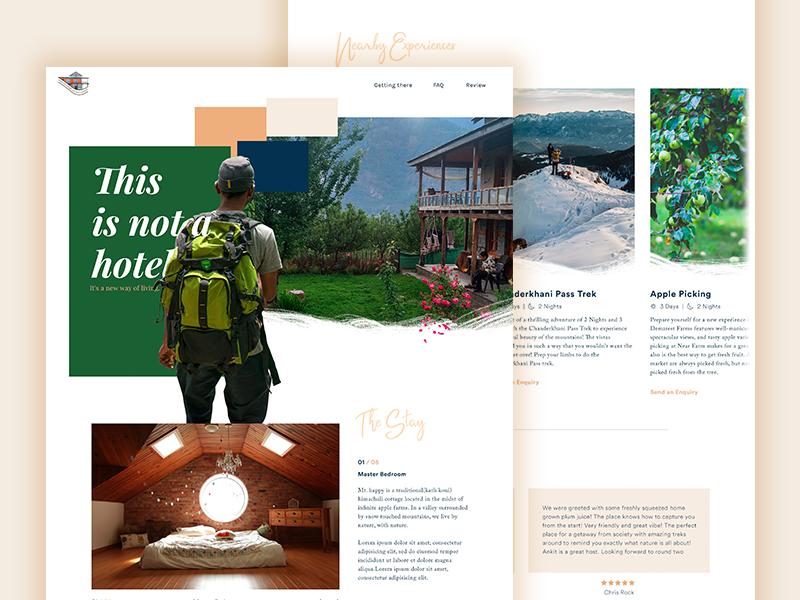 Mount Happy website lodge hotel traveller mountains resort design