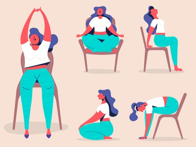 Office Yoga Poses international yoga day stretch office workout office yoga