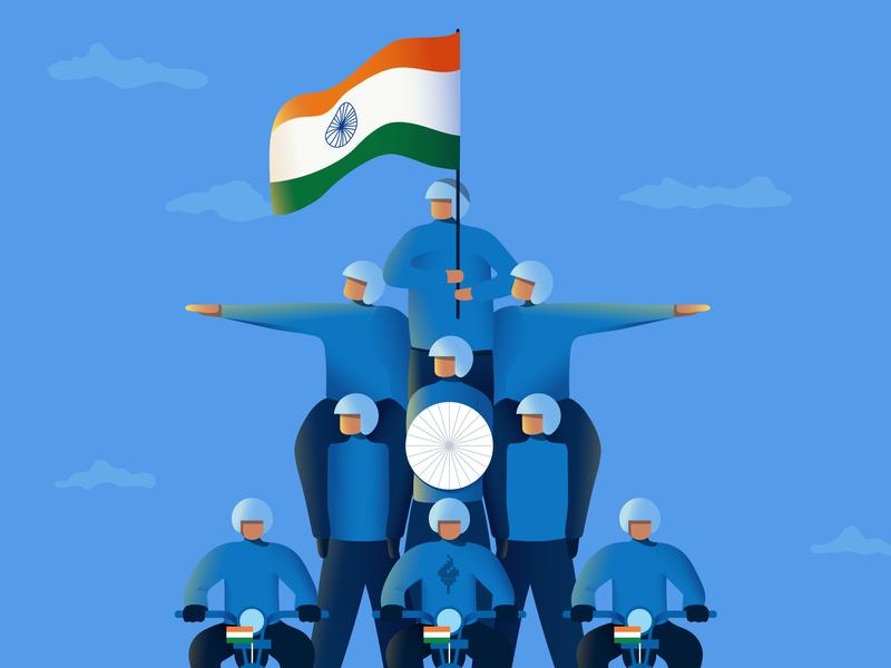70th Republic Day republic day design india illustration