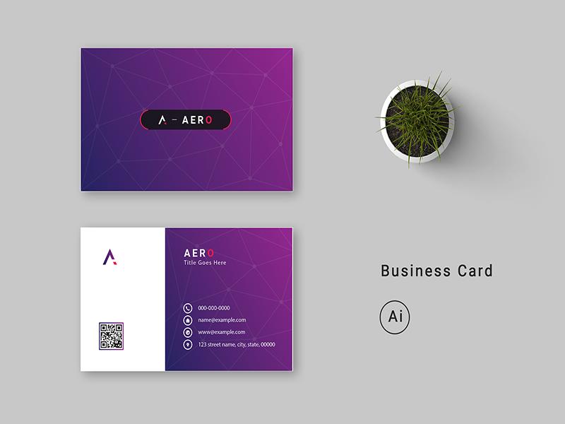 Business Card card technology design business card