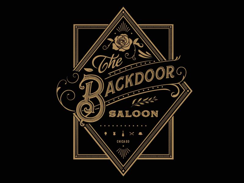 Branding for The Backdoor Saloon creative direction branding bar restaurant logo