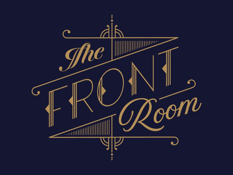 The Front Room Chicago chicago logo jazzbar boozycocktails 1940s 1930s
