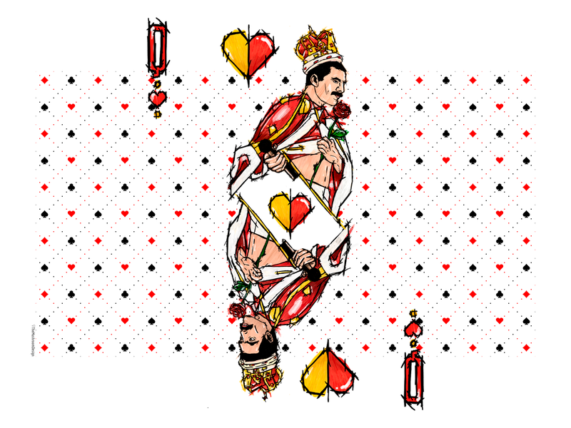 Freddie, Queen Card - TheMushroomDesign