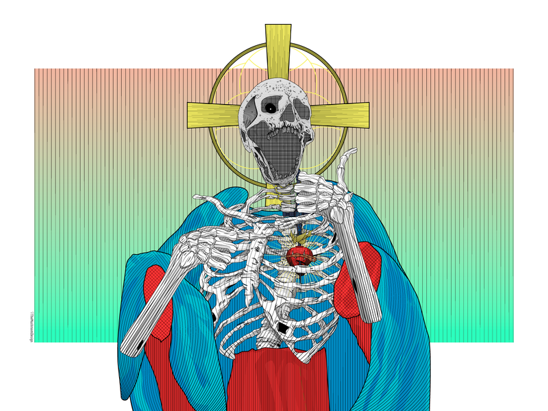 Skull Jesus -  TheMushroomDesign