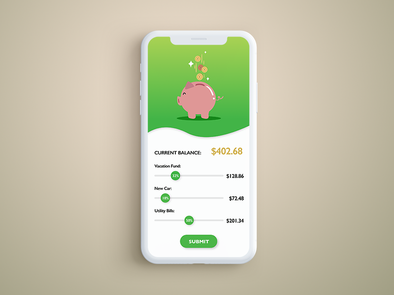 piggy savings distributor screen by jesse hunter dribbble dribbble