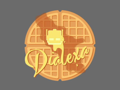 Dialexa Waffle Graphic branding swag design adobe illustation graphic waffle vector