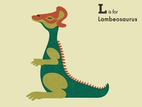 L is for Lambeosaurus