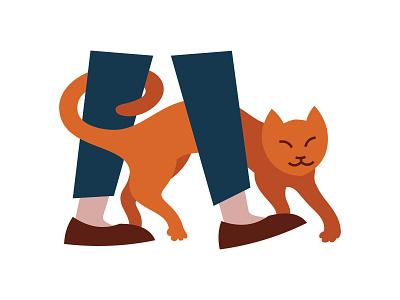 Cat cat animal illustrator adobe illustration vector
