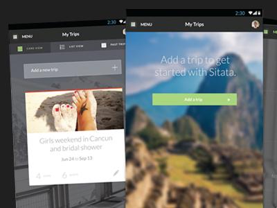 Sitata Mobile App UI Design