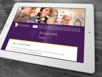ADHD Learning Portal UI Design