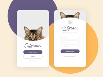 Catgram Login - UI Challenge