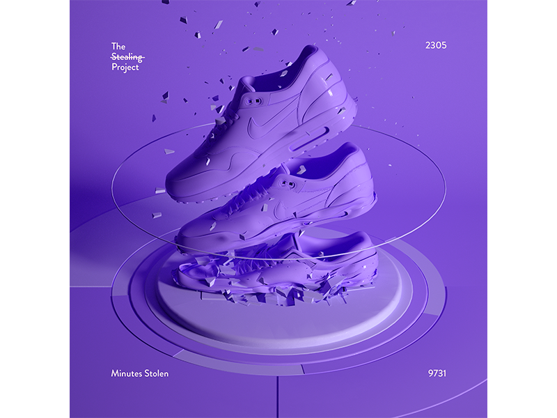 2305 nike airmax print cinema4d illustration the stealing project graphic design experimental houdini design everyday poster
