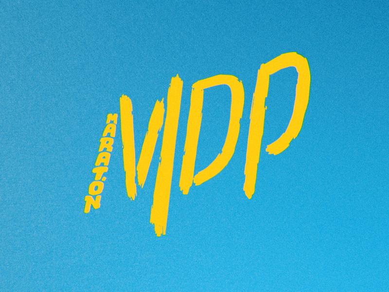 Mdp Logo mardelplata logo lettering type hand marathon mdp branding typography