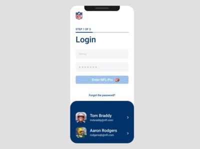 NFL Pro App for #DailyUI