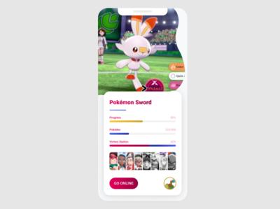 Pokemon Sword App for #DailyUI 004